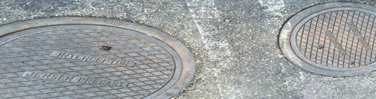 Jensen precast grease interceptor cleaning service. We service grease interceptors with manholes flooding with water coming out.  	                        		Grease traps blocked leaking grease trap pumping service.